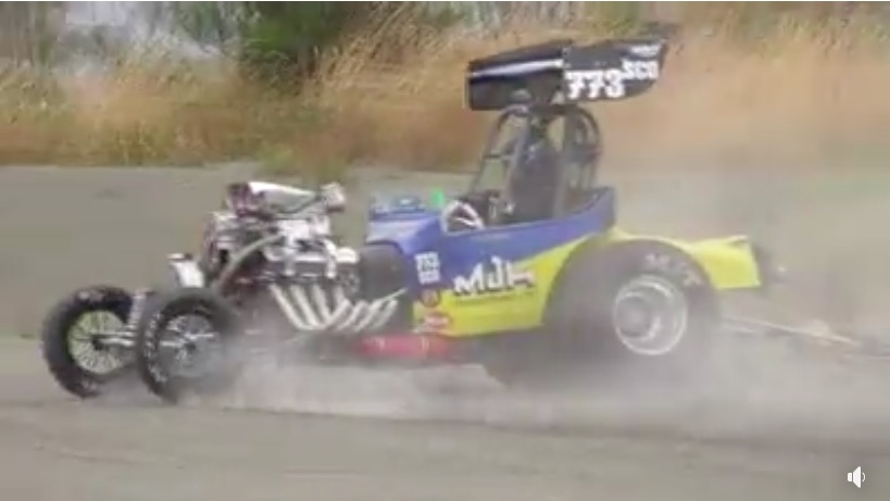 Like A Boss: Watch This Kiwi Drag Racer Huck His Altered Into A Skid To Prevent Going Long At The Strip