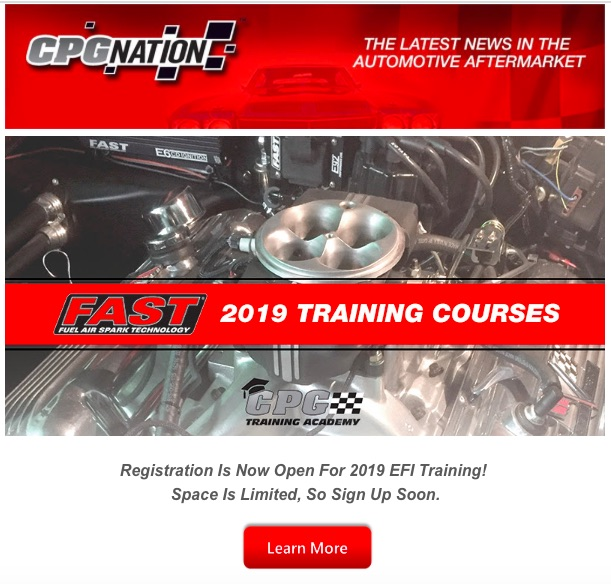 2019 FAST EFI Training Class Registration Is Open! Take The Course…Be A Boss!