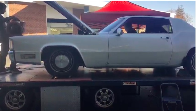 Dyno video: Watch This Large Barge Of A 1970 Cadillac Eldorado Hit The Chassis Dyno And Groan