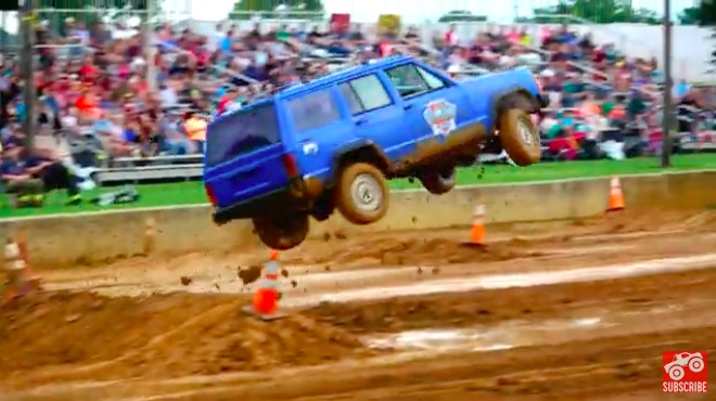 Te Definition Of Tuff Truck: Watch This Jeep Cherokee Get Pounded!