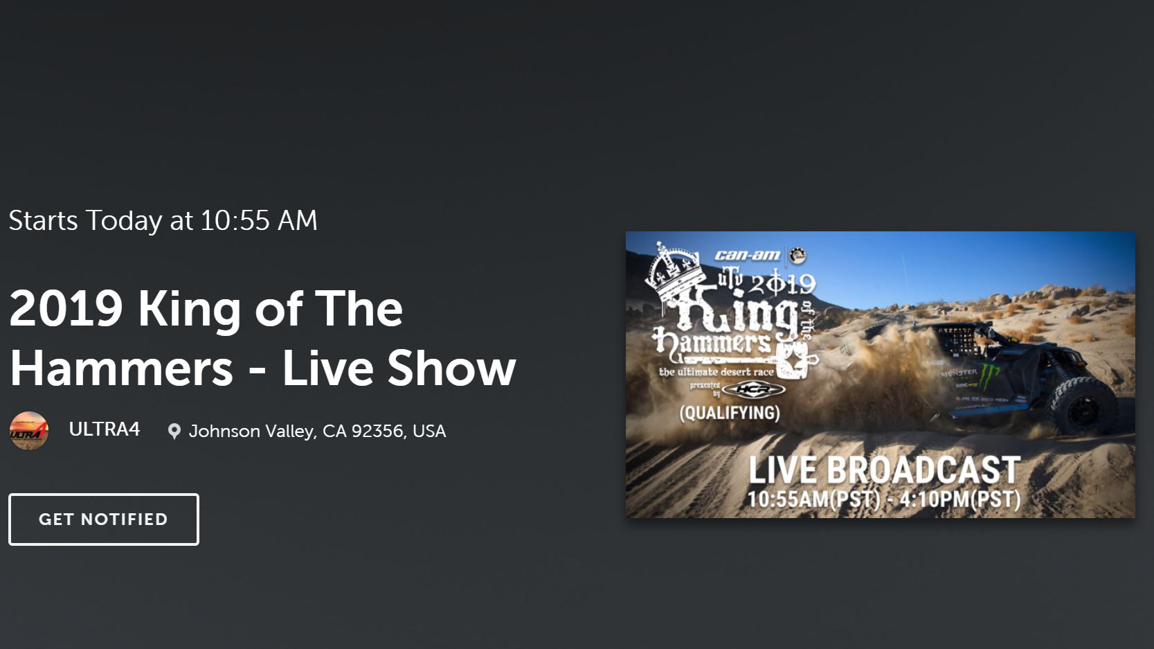 FREE LIVE STREAMING VIDEO: King Of The Hammers 2019 Is LIVE Right Here!!!