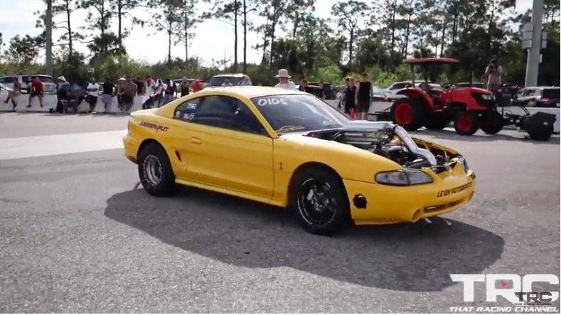 American Powertrain Parting Shift: Watch This H-Pattern Shifted Mustang Run 7s!