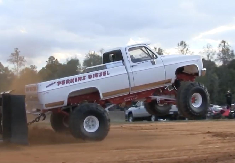 Morning Symphony: Wheelstanding Truck Pulls