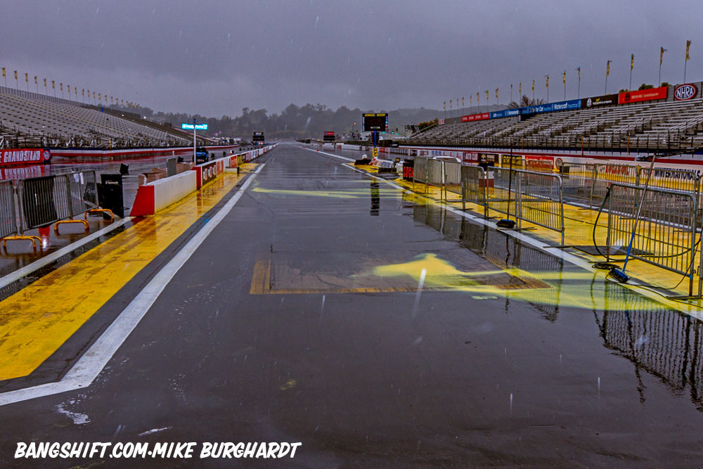 Sunday Washout At 59th Lucas Oil NHRA Winternationals – Monday Eliminations At Pomona!