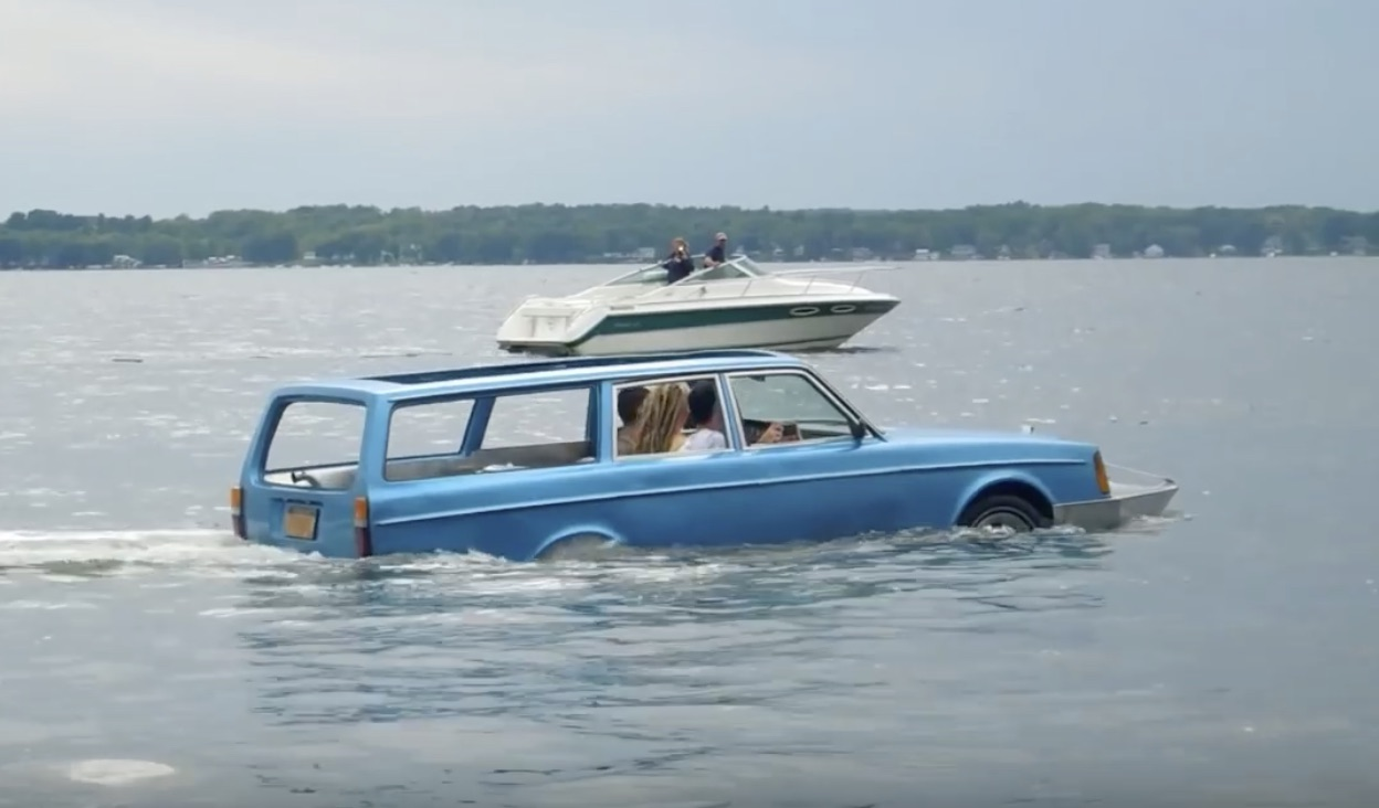 Best of 2019: Floating On The Water In An Amphibious Volvo Wagon