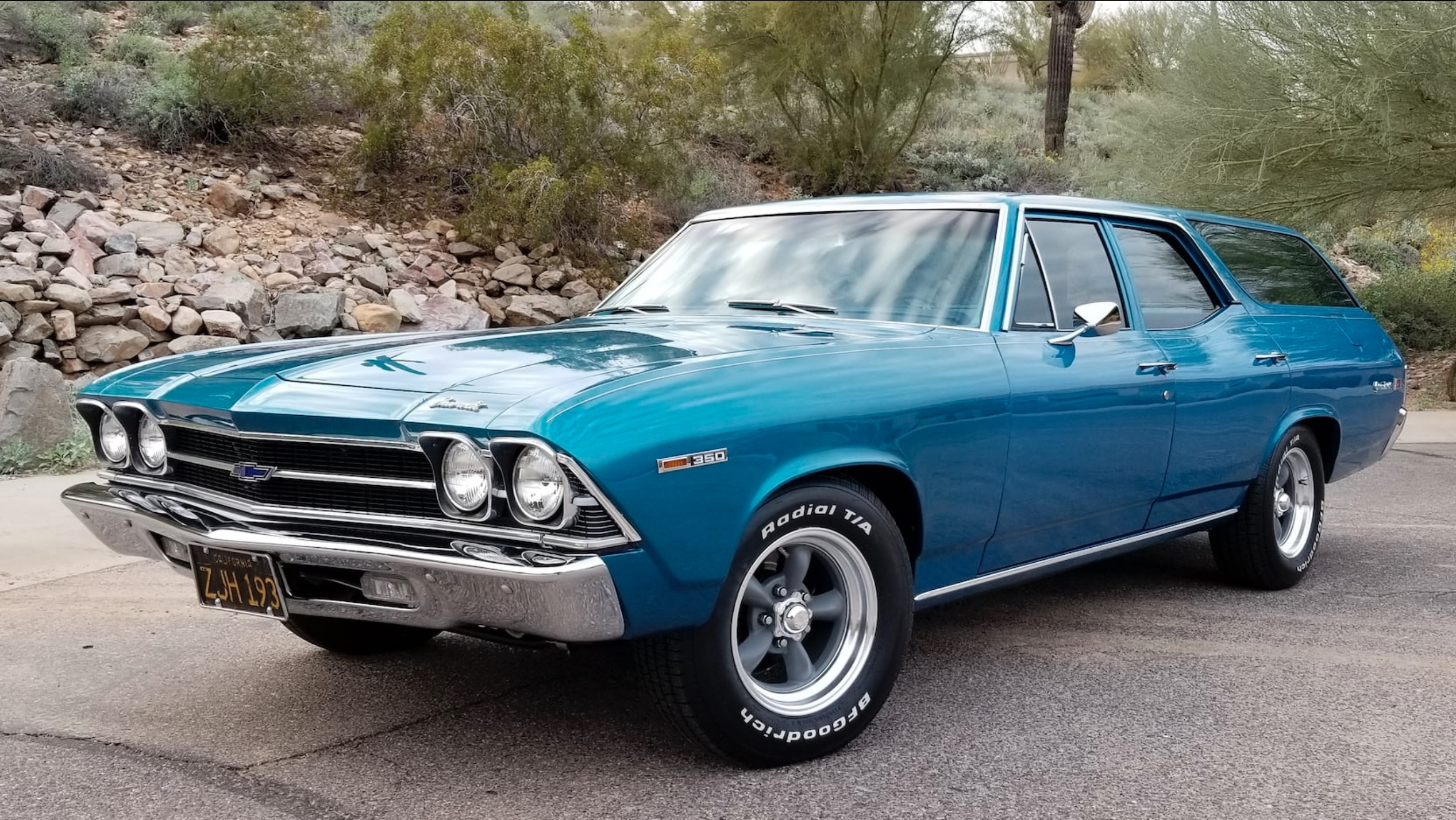 Money No Object: 1969 Chevrolet Chevelle Greenbriar – Super Sports Wagon, Yes. Antarctic Blue? Close Enough.