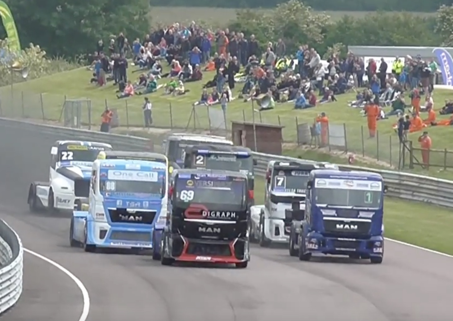 Heavy Hauling: Truck Racing From Thruxton in England