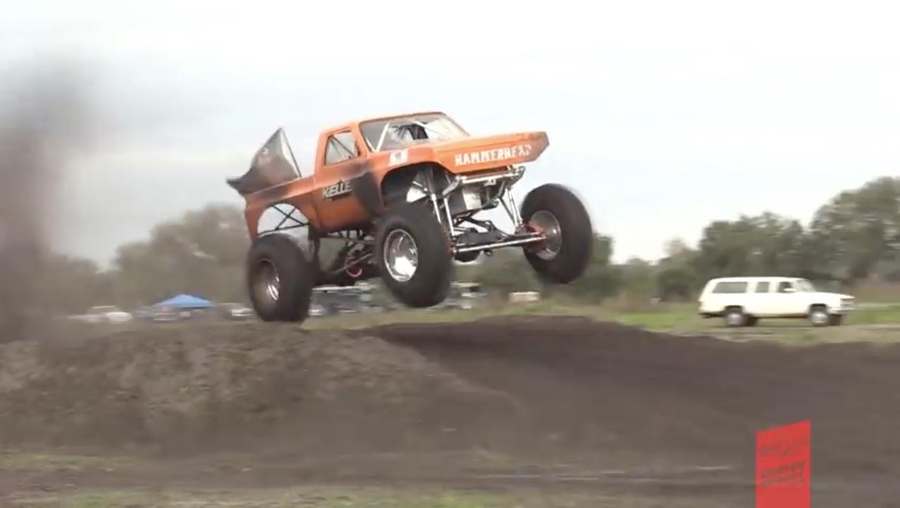 Horsepower, Flight And Mud: Mega Truck Mud Racing From Florida!
