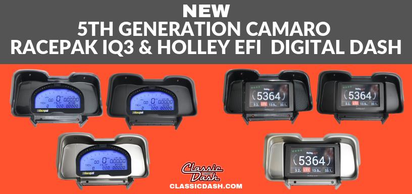 Classic Dash Unveils New Racepak or Holley Digital Dash Inserts For 5th Gen Camaros