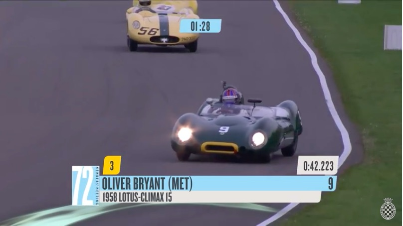 Watch Ollie Bryant Drive A 1958 Lotus-Climax Like A Boss At Goodwood – Raw Talent!