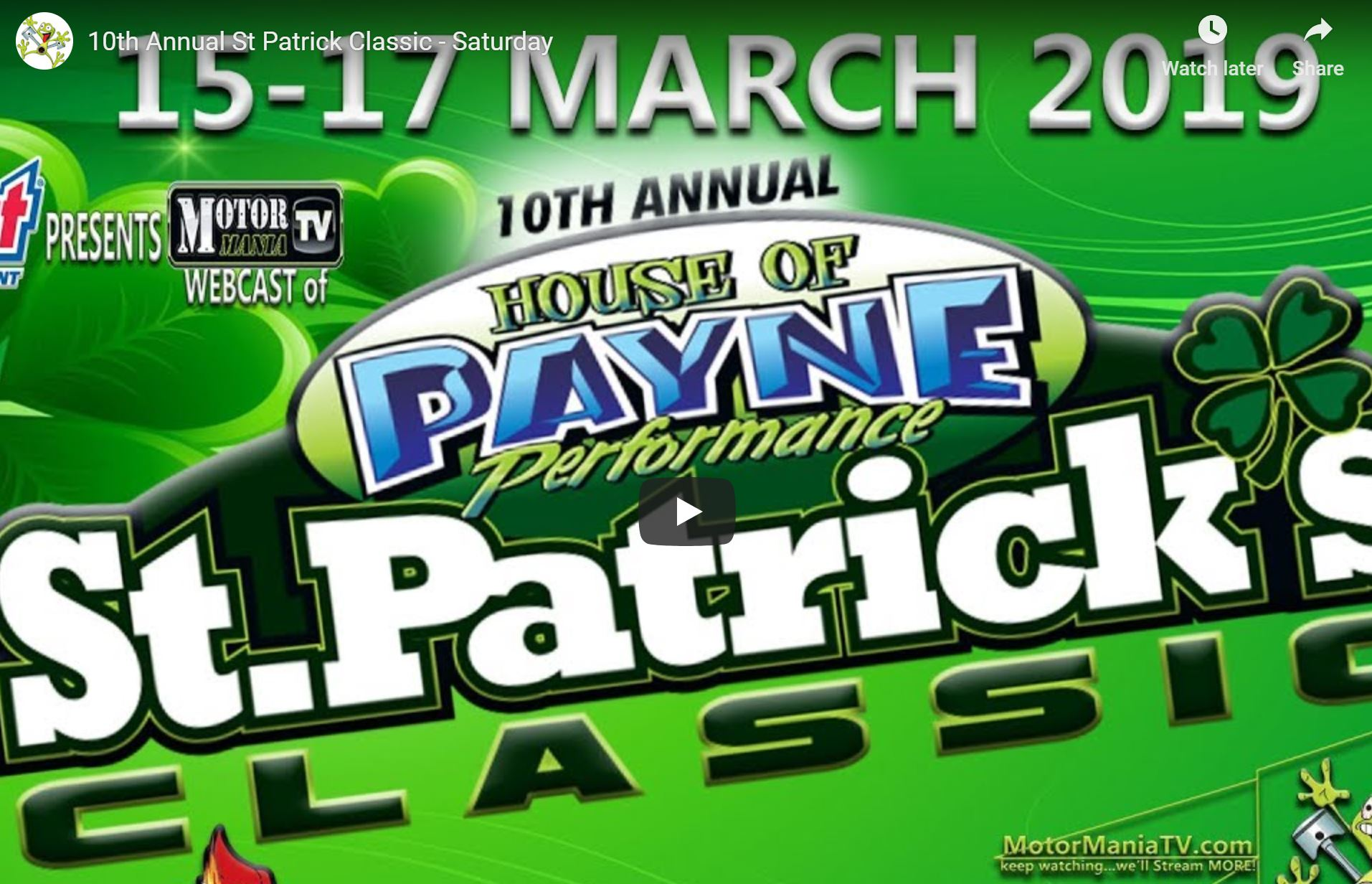 The 10th St. Patrick's Classic Bracket Race Is LIVE Right Here!!!