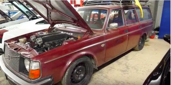 Incredible: This Guy Pulled A Hot Rodded 2JZ Out Of His Volvo Wagon and Plugged A Lambo V10 IN!