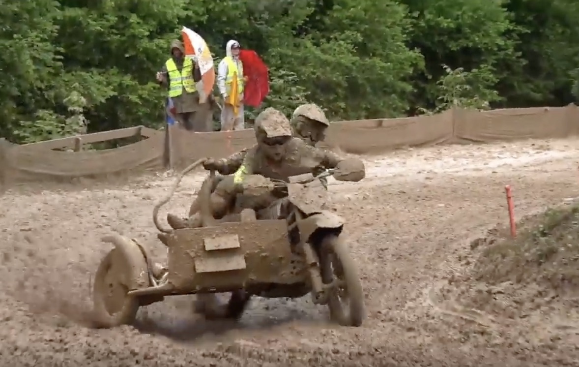 Gluttons For Punishment: Sidecar Motocross Racers In The Mud!