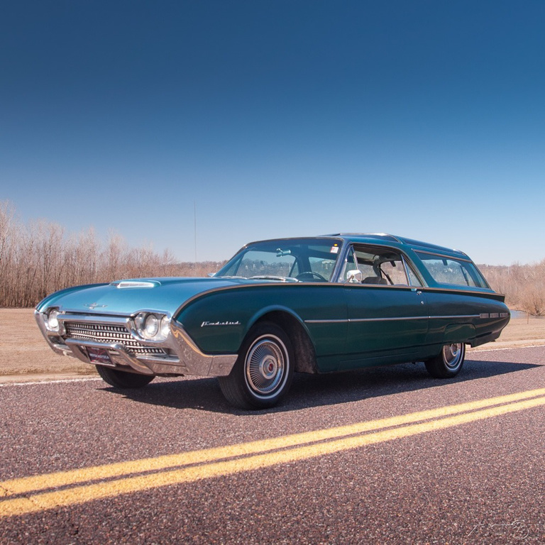 For The Sporting Sir: The 1962 Ford Thunderbird Phantom Station Wagon