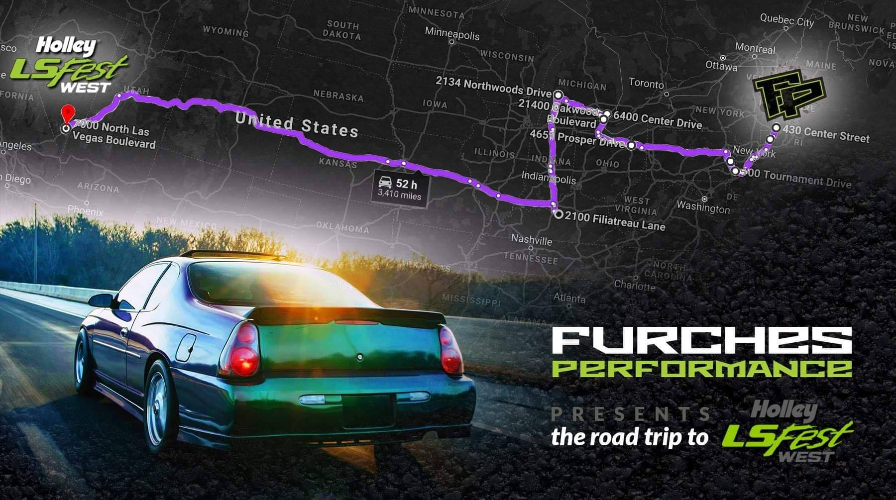 Roadtrip! Crossing the country with 800 HP to Holley LSFest West!