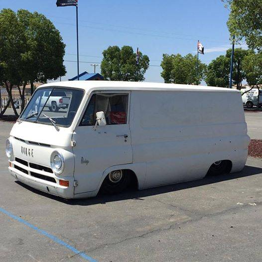 This Dodge A100 Is Bagged And Channeled Perfection! This One Is Cruiser Cool And A Whole New Level