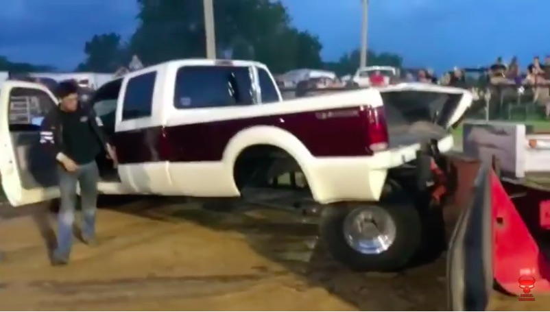 This Could Have Gone Better: Watch A Ford Pulling Truck Self Destruct During A Hook