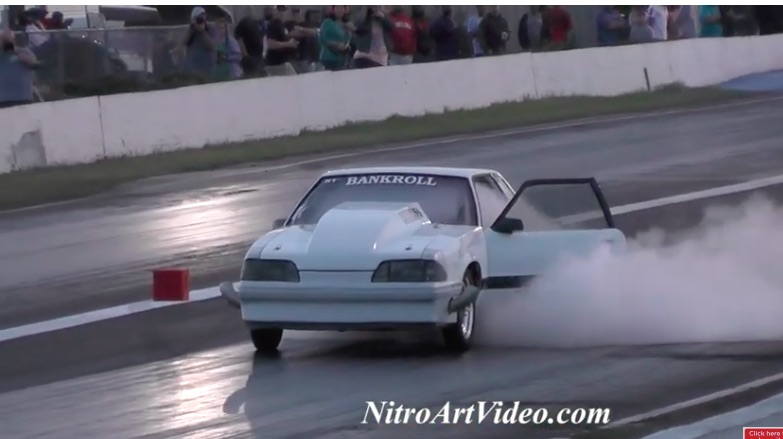 Not Good: Watch This Racer Suffer A Nitrous System Failure, Filling The Car With Gas!
