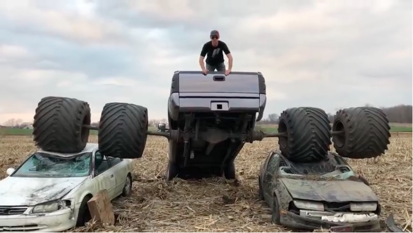 Dumb Fun Part 2: The Freaky Farm-Built Dually Is Back…And Crushing Cars!