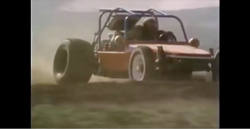 Watch A Plymouth Fury Chase A Drag Slick Equipped Dune Buggy In The Comedically Bad Flash and Firecat Movie Circa 1976