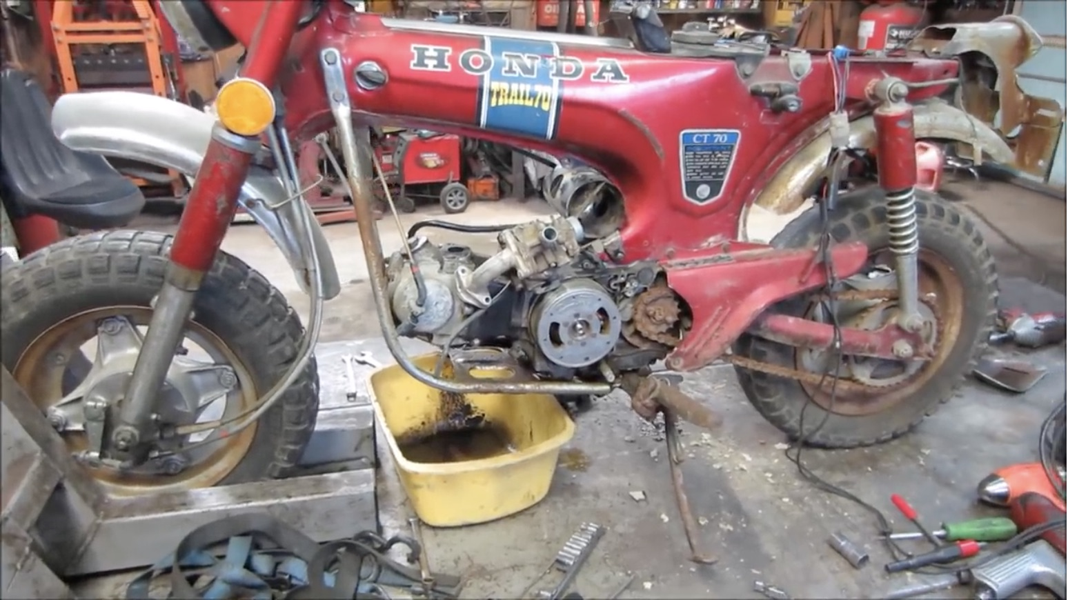 The Honda Trail 70 Revival: Clearing Out The Fuel System And Seeing If It Will Run