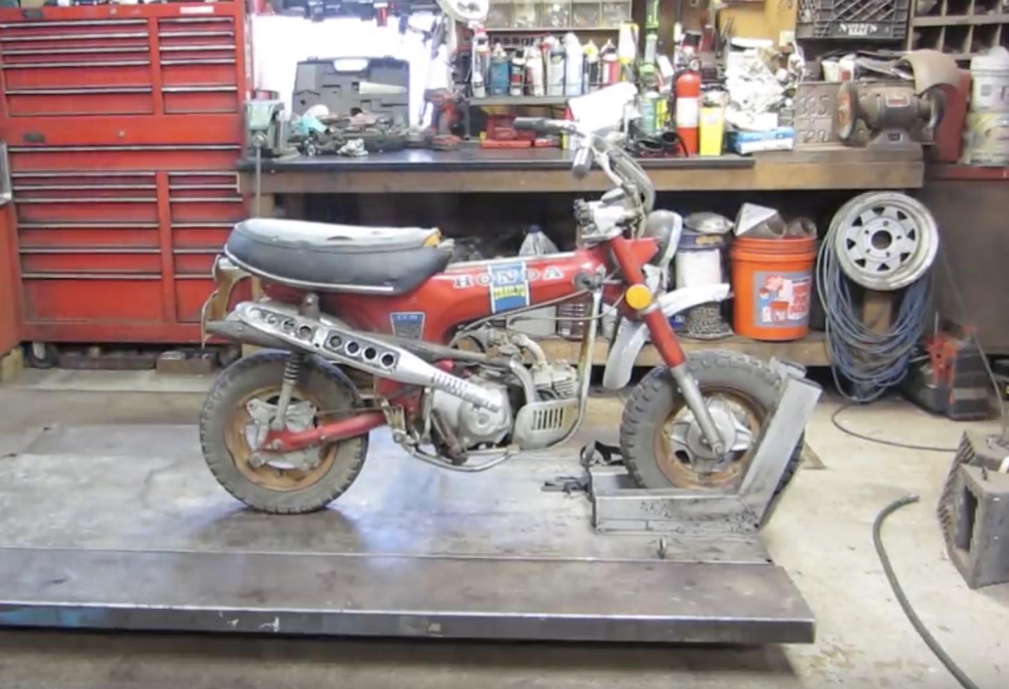 Mini Bike Refreshing: The Teardown Of A Honda CT-70 Trail 70 Motorcycle