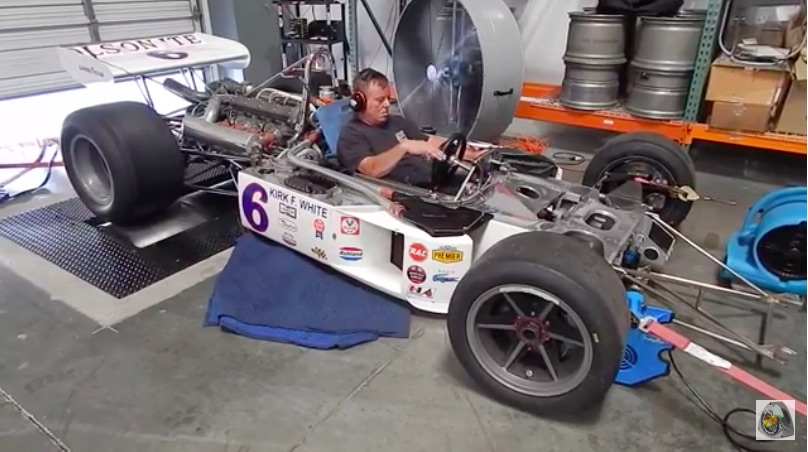 Watch This Classic Turbocharged Offy Indy Car Spend Time On The Chassis Dyno – Horsepower!