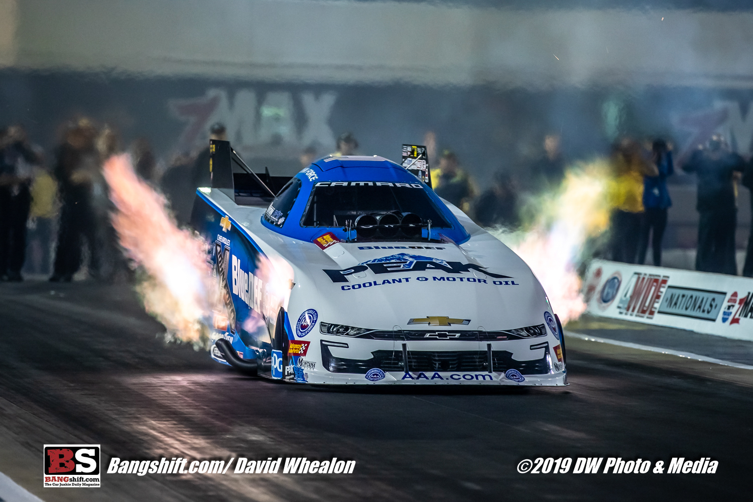 NGK NHRA 4-Wide Nationals Nitro Photos: Flames Up, Pig Piles, Tire Smoke, Action and More!