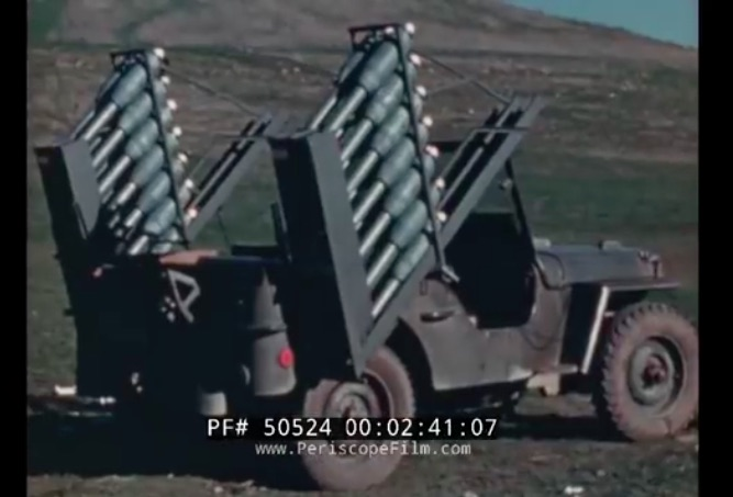 Little Truck Big Punch: This 1944 Video Shows An Experimental Jeep Mounted Rocket Launcher System Being Tested