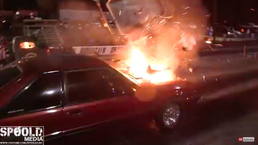 Manifold Explosion Video: Watch This Mustang Barf The Whole Hood!