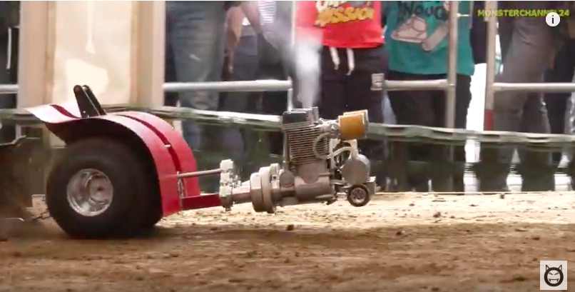 Video Fun: Multiple Engine Miniature Pulling Tractors Hauling The Sled Put On A Great Show