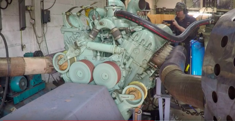 Watch This Old 27-Liter Rover Meteor Tank Engine Rumble And Roar Away On The Dyno
