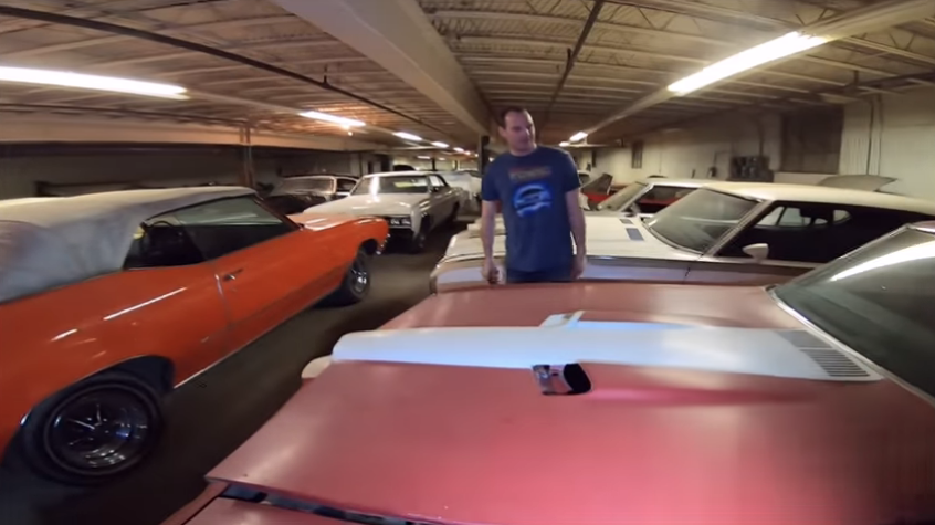 Rare GM Muscle Cars Found Stored In A Furniture Factory Basement!