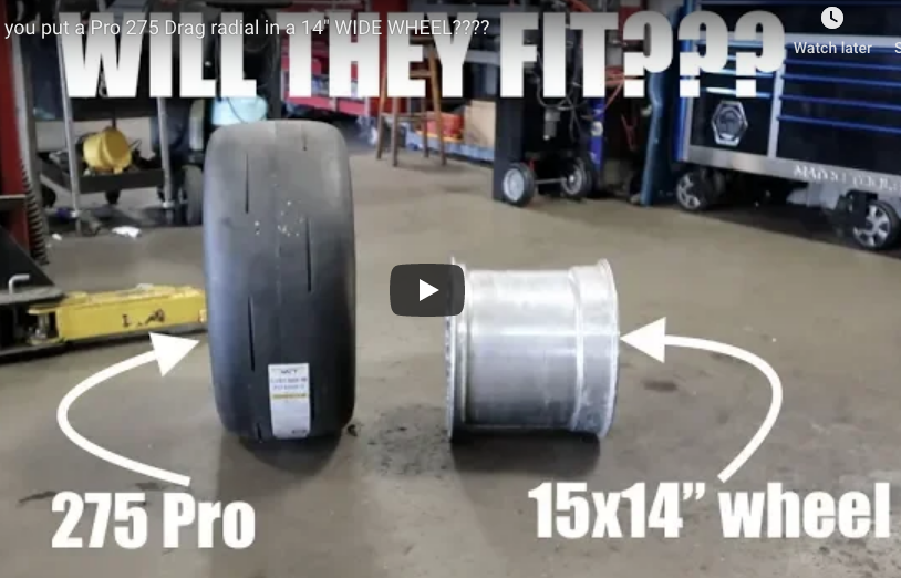 WILL IT FIT? Can You Fit A 275 Drag Radial On A 14 inch Wide Rim? Watch This!