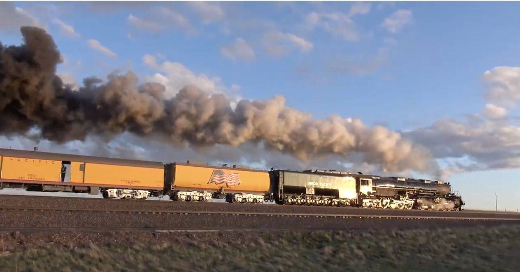 Morning Symphony: The Union Pacific #4014 Big Boy and #844 Steam Locomotives In Action
