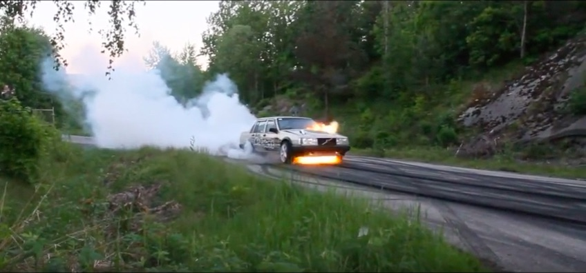 Yikes Video: Watch This Hot Rodded Volvo Suffer A Clutch Explosion During A Burnout – Crazy