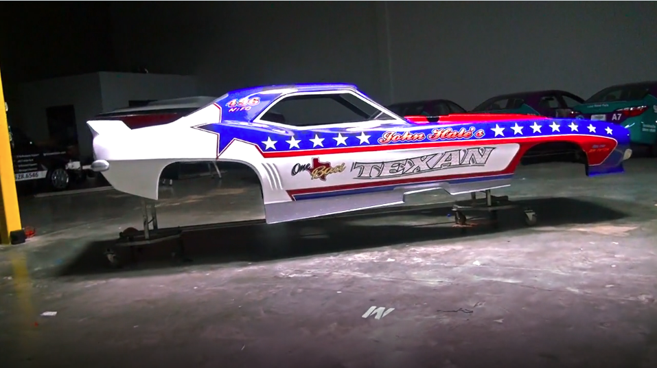 Watch John Hale's One Bad Texan Funny Car Get Wrapped. Man This Is A Lot Of Work!