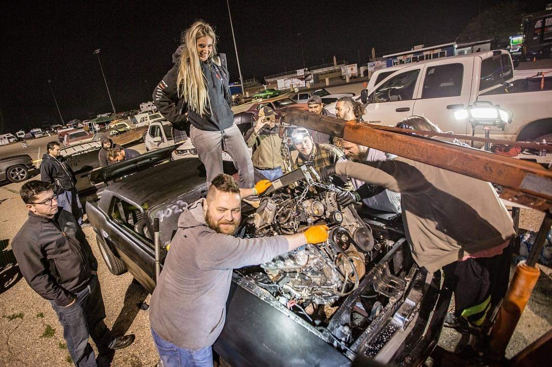 The Friendliest Thrash: An LS-Swapping A Mustang In A Drag Strip Pit Area For The Best Possible Reason You Could Imagine