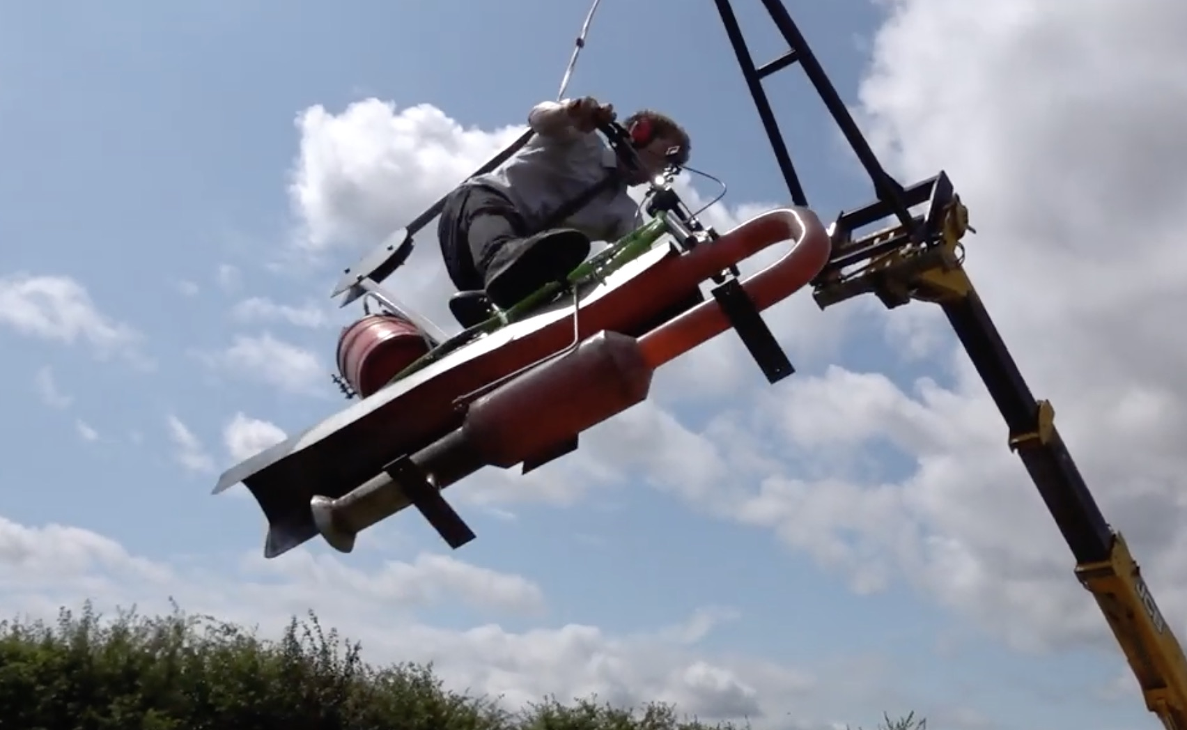 Life Insurance Doesn't Cover This: Britain's Mad Scientist Creates A Jet-Powered Swing