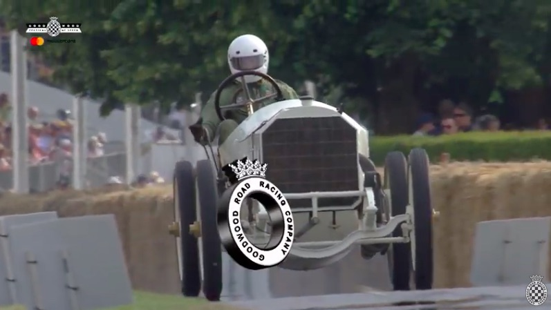 Man vs Machine: Watch This 101 Year Old Mercedes Grand Prix Rumble and Slide Up The Goodwood Course