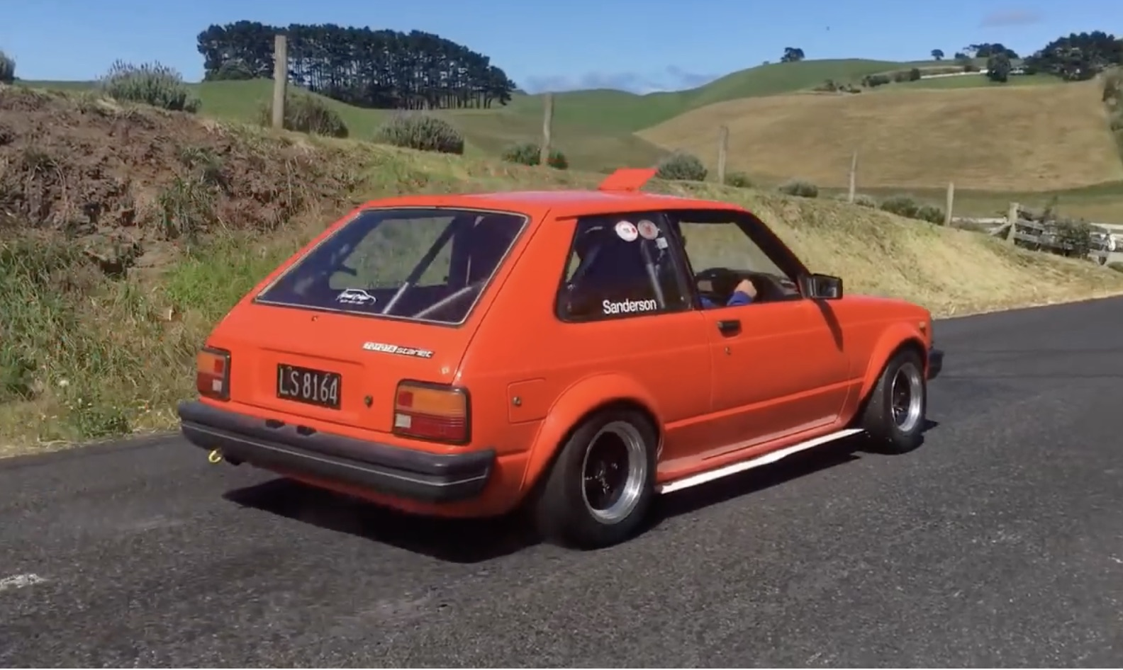 Hearing Is Overrated Anyways: Enjoy This Hayabusa-Swapped Toyota Starlet's Run Up A Hillclimb!
