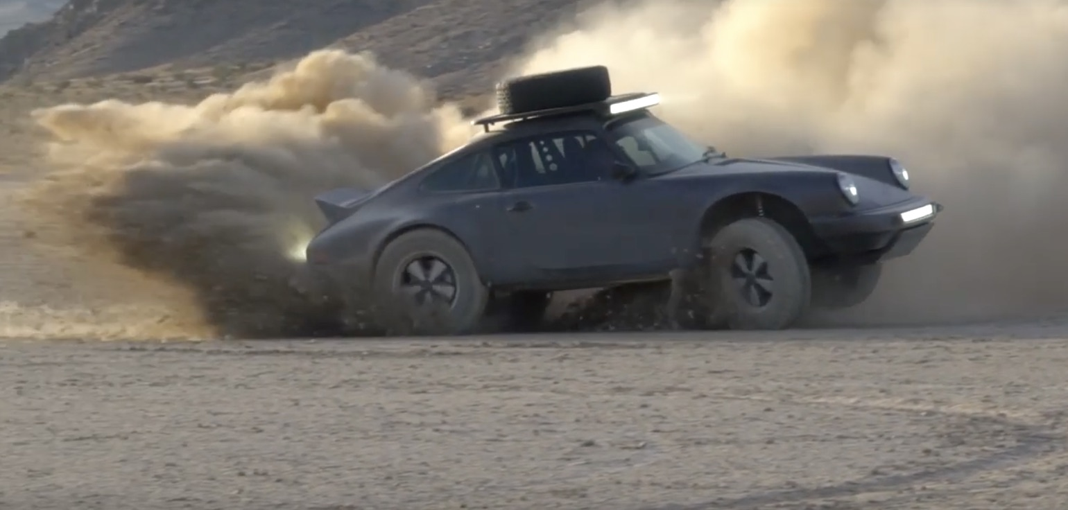 Gravel King: Watch This Porsche 911 Safari-Style Build Get Worked Out On A Dry Lake!