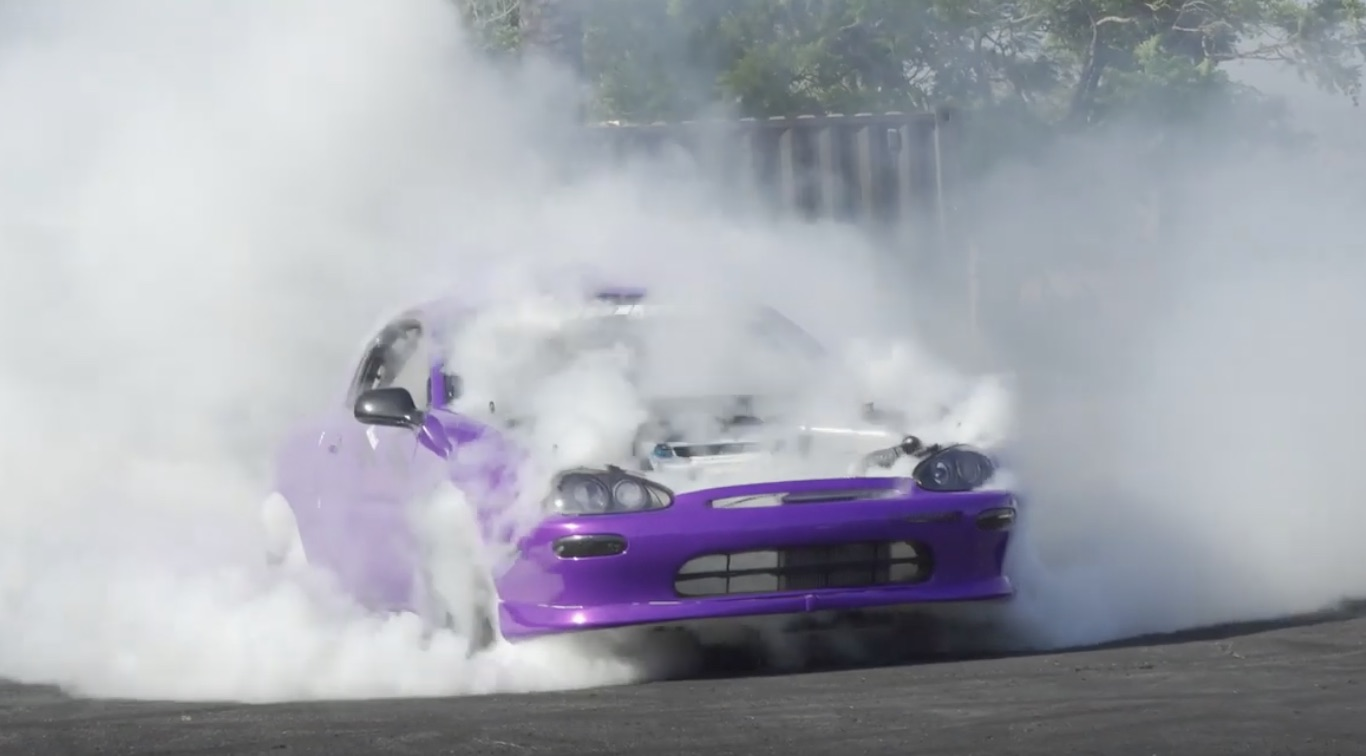 Grape Warhead: Mazda MX-3 With Dual Engines Because…Eh, Why The Hell Not!