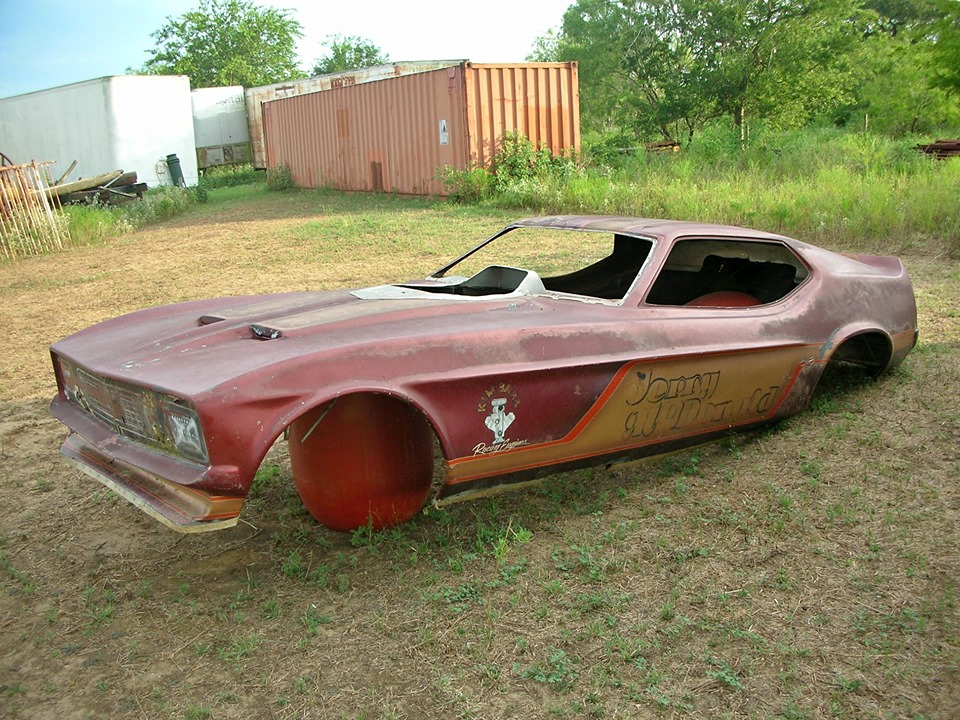 This Vintage 1971 Mustang Fiberglass Funny Car Body Could Be The Ultimate Artwork For Your Shop!