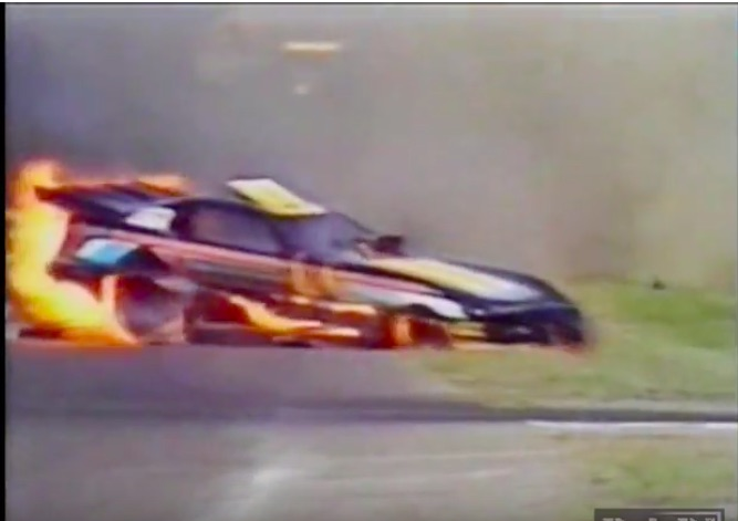 Watch Norm Day's Insane Flaming Wreck At The 1986 NHRA Northstar Nationals In Brainerd, Minnesota