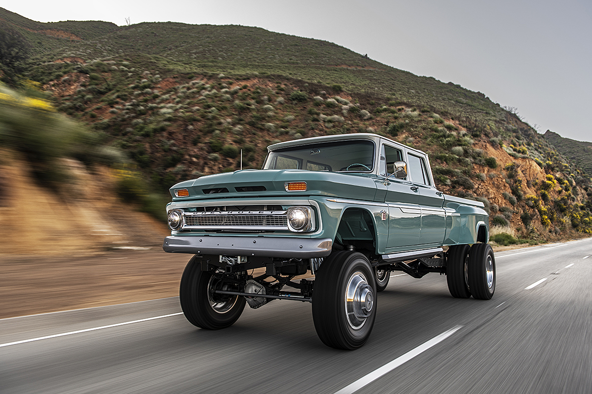 The Rtech Fabrications Built Ponderosa 1966 Chevrolet Crew Cab 4×4 Dually Truck Is One Awesome Beast