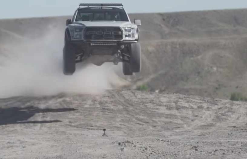 Ken Block Takes His New Raptor Out For Some Shock Tuning So It Will Jump Better!