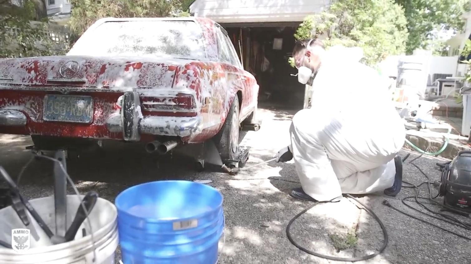 Bath Time: Scrubbing Down A Mercedes That Hasn't Seen The Sun Since 1982!