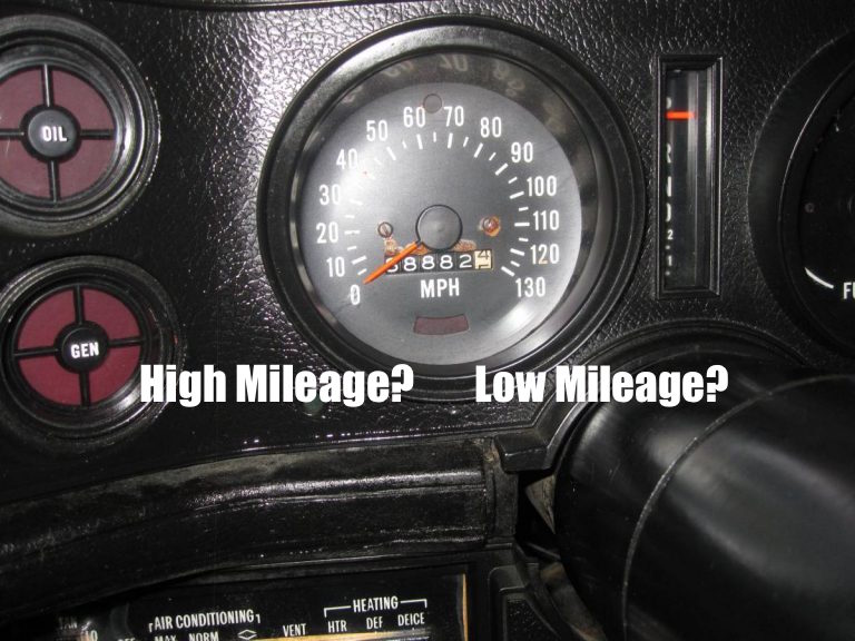 What Do You Consider Low Miles In A Classic Car? Or Low Mileage On Any Car For That Matter?