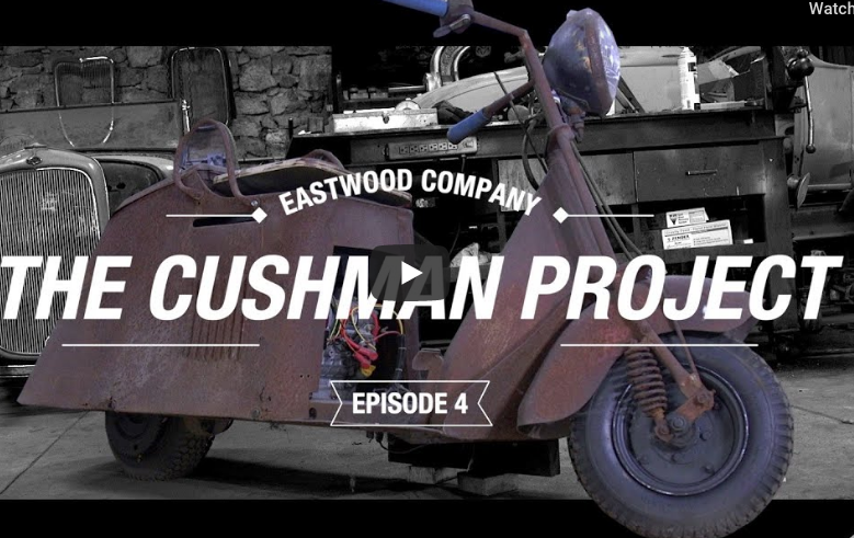 We Totally Want To Have Some Cool Scooter Or Bike Like An Old Cushman, Here's One Being Restored